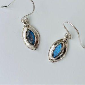 Labradorite Marquise Dangle Earrings